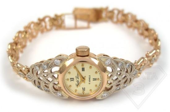 Женские часы из золота (1)