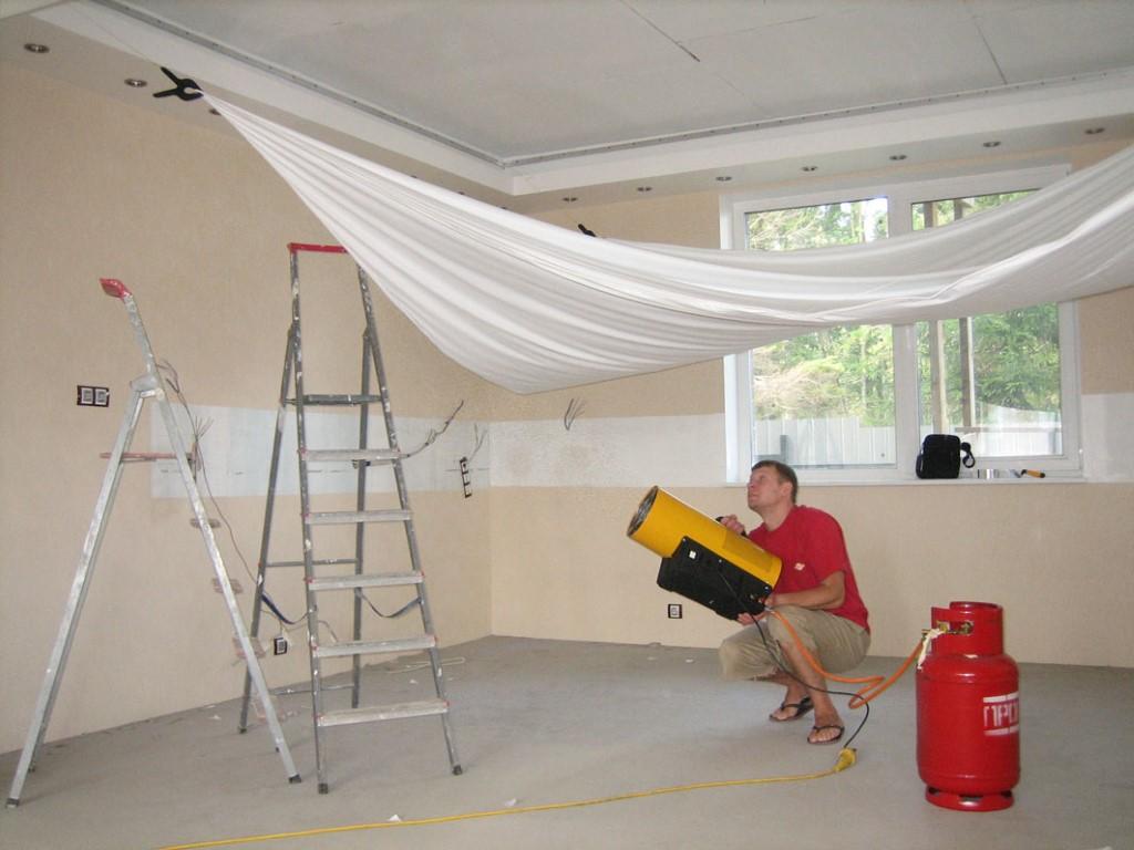 Как установить потолок своими руками фото