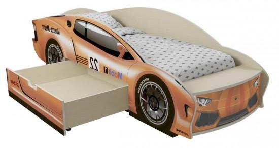 Детская кровать в форме машины