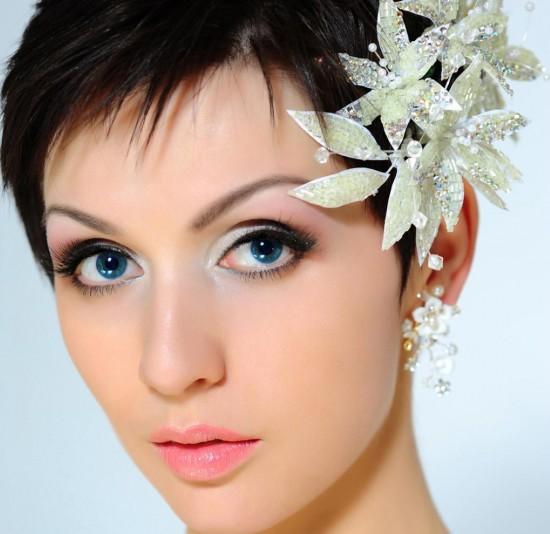Прически на свадьбу для коротких волос (2)