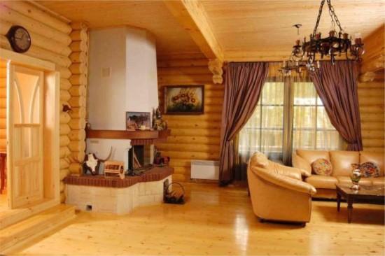 Красота и надёжность дома из брёвен1