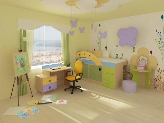 Оформление детской комнаты для маленького ребенка2